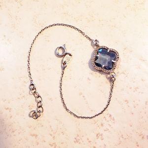 Sterling Silver Blue Stone Bracelet